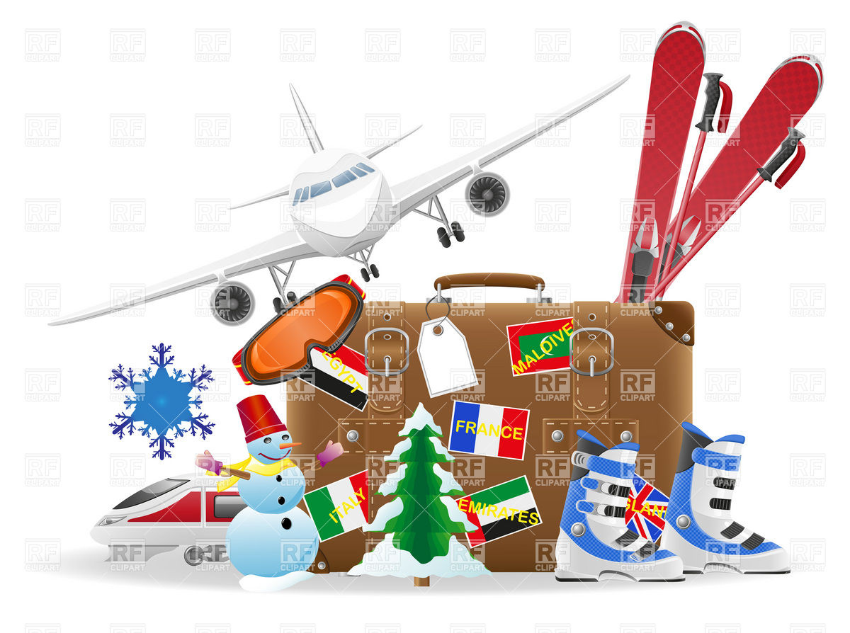 Winter Vacation Clipart.