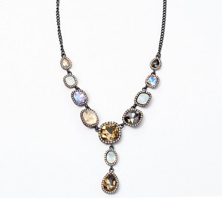 LOGO Links by Lori Goldstein Halo Y Necklace — QVC.com.