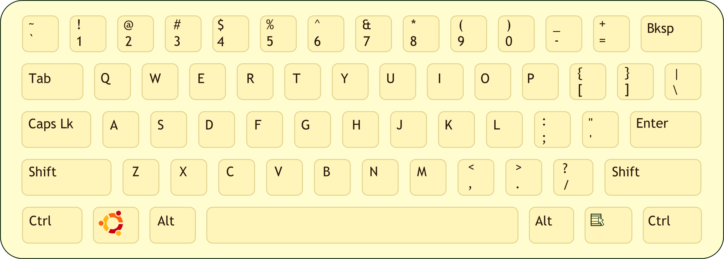 Qwerty keyboard clipart.