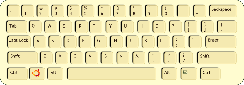 Clip Art of QWERTY Keyboard.