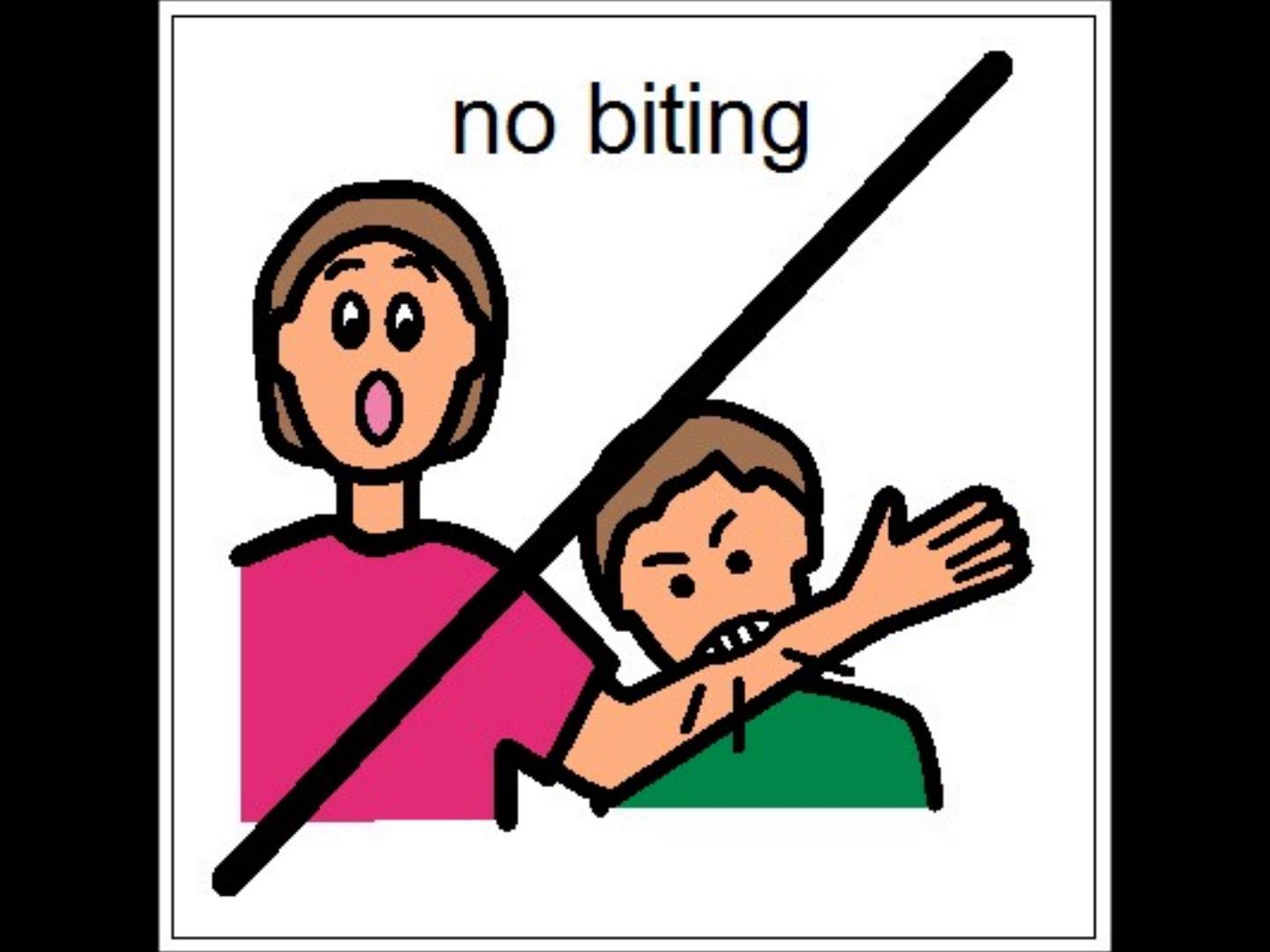 No Hitting Others Clipart.