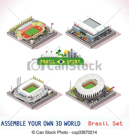 Vector Clip Art of Game Set 10 Building Isometric.
