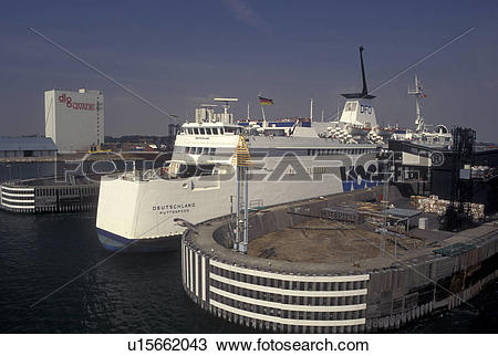 Stock Photo of Denmark, Germany, Port of Rodby, Baltic Sea.