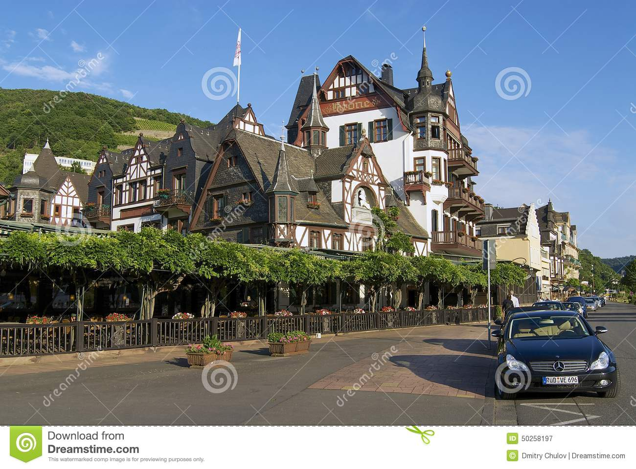 Exterior Of The Traditional Buildings In Rudesheim Am Rhein.