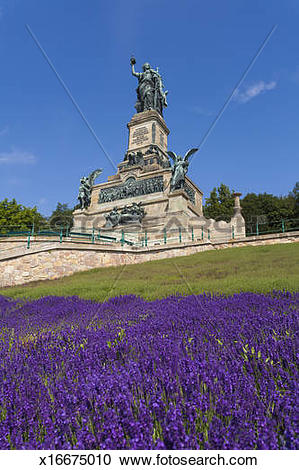 Stock Photography of Niederwalddenkmal monument in Rudesheim.