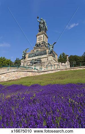 Stock Photography of Niederwalddenkmal monument in Rudesheim.