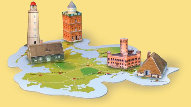 Insel Rügen / Mein Rügen /Hiddensee / Ostsee / Modell Landschaft.
