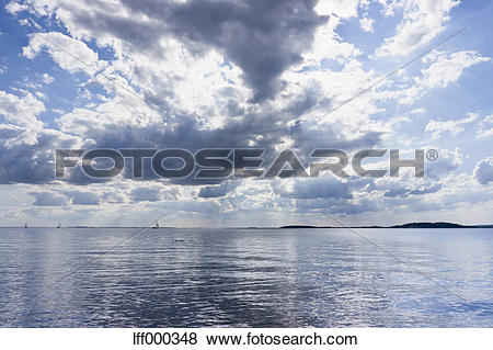 Pictures of Germany, Sail boat in Baltic Sea at Rugen Island.