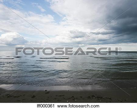 Stock Photography of Germany, View of cloudy sky over Baltic Sea.