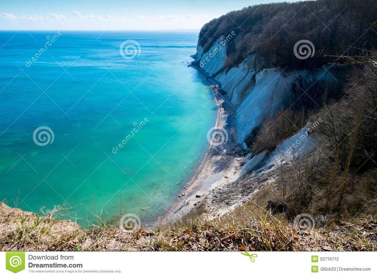 The Shore Of The Baltic Sea. Rugen Island Stock Photo.