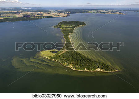 "Stock Photography of ""Aerial view, holiday island of Vilm."