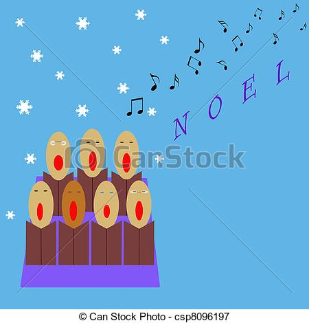 Group Of Church Choir Singers In Purple Robes by r formidable.