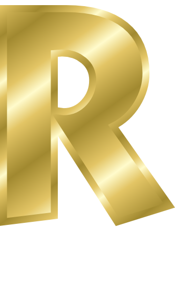 Clipart letter forma r.