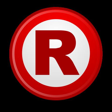 Copyright R Symbol (Registered Trademark) PNG Transparent.