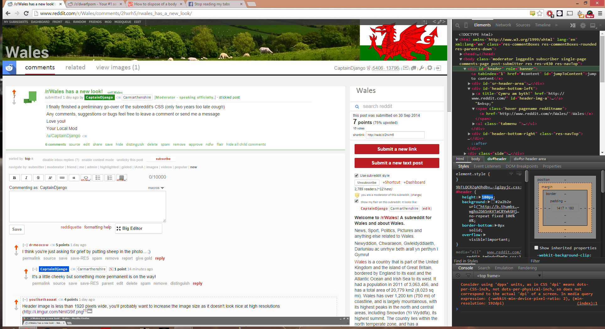 r/Wales has a new look! : Wales.