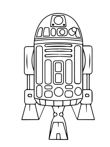 R2d2 clipart black and white 3 » Clipart Station.