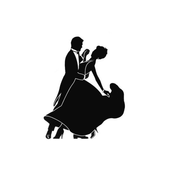 ballroom dancing silhouette r4 found on Polyvore.