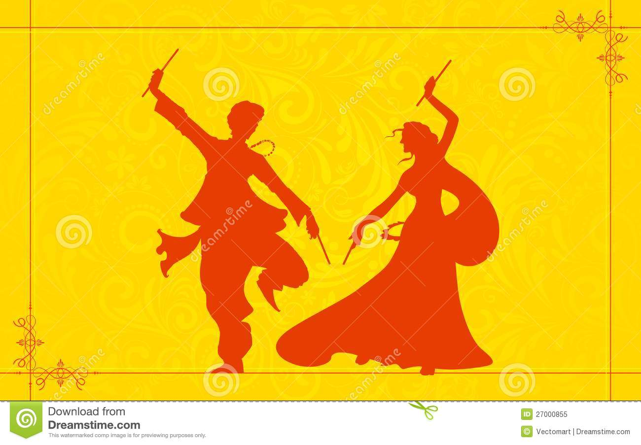 Couple Playing Garba Royalty Free Stock Photo.