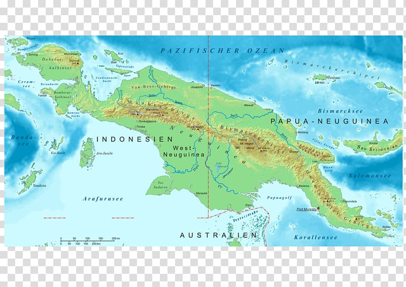 Great Papuan Plateau Bismarck Range Provinces of Indonesia.