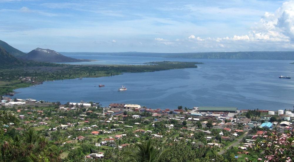 Rabaul (New Britain Island, Papua New Guinea) cruise port.