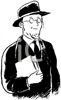 Vintage Black and White Rabbi.