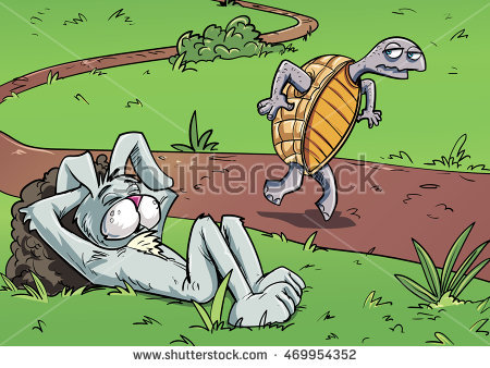 Tortoise And Hare Stock Images, Royalty.