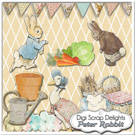 Peter Rabbit Fence Clipart.