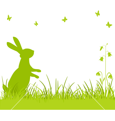 18 Easter Bunny Vector Border Images.