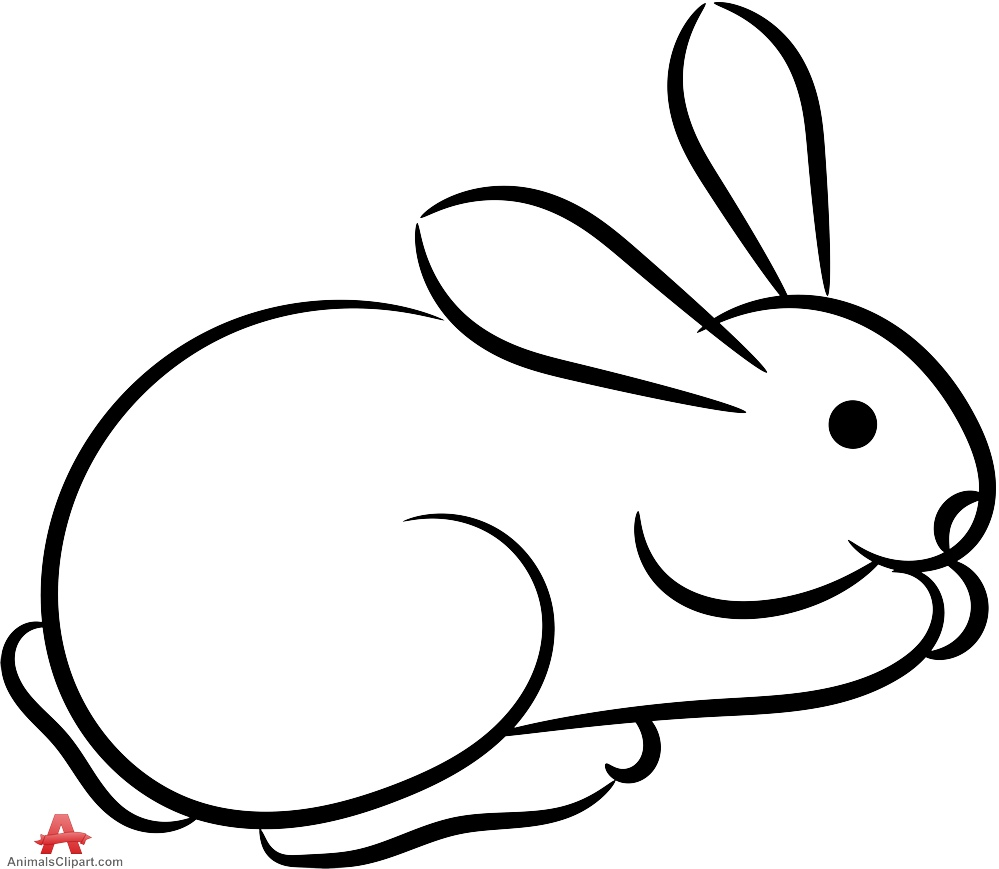 Rabbit black and white bunny black and white rabbit clipart.