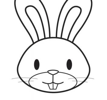Outline Of A Bunny.