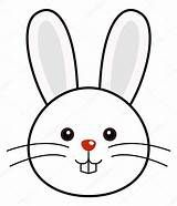 bunny face clip art black and white.