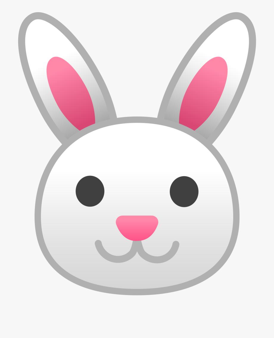 Easter Bunny Head Clipart.