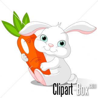 CLIPART RABBIT HOLDING CARROT.