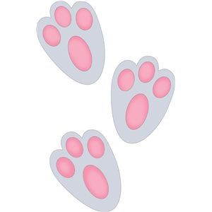 Silhouette Design Store: bunny footprint.