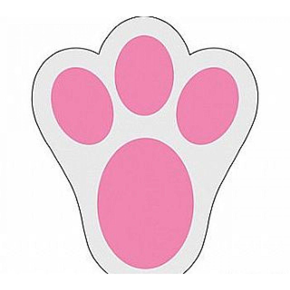 12 Large Easter Bunny Footprint Clings for Egg Hunts.