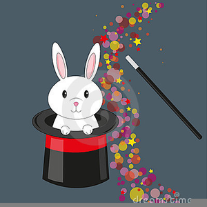 Rabbit Out Of A Hat Clipart.