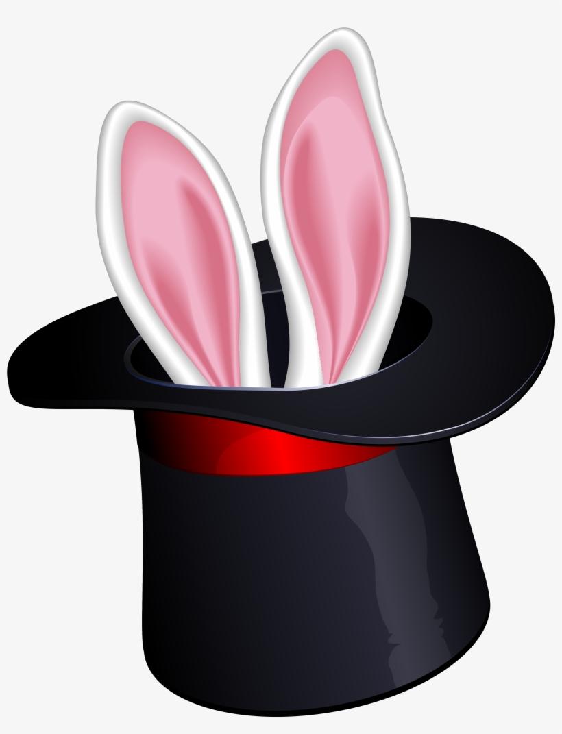 Cool Bunny Magic Hat Clipart.