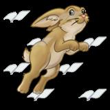 Hopping Rabbit, tan.