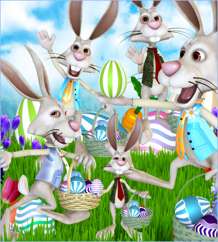 Wacky Rabbit Graphics.