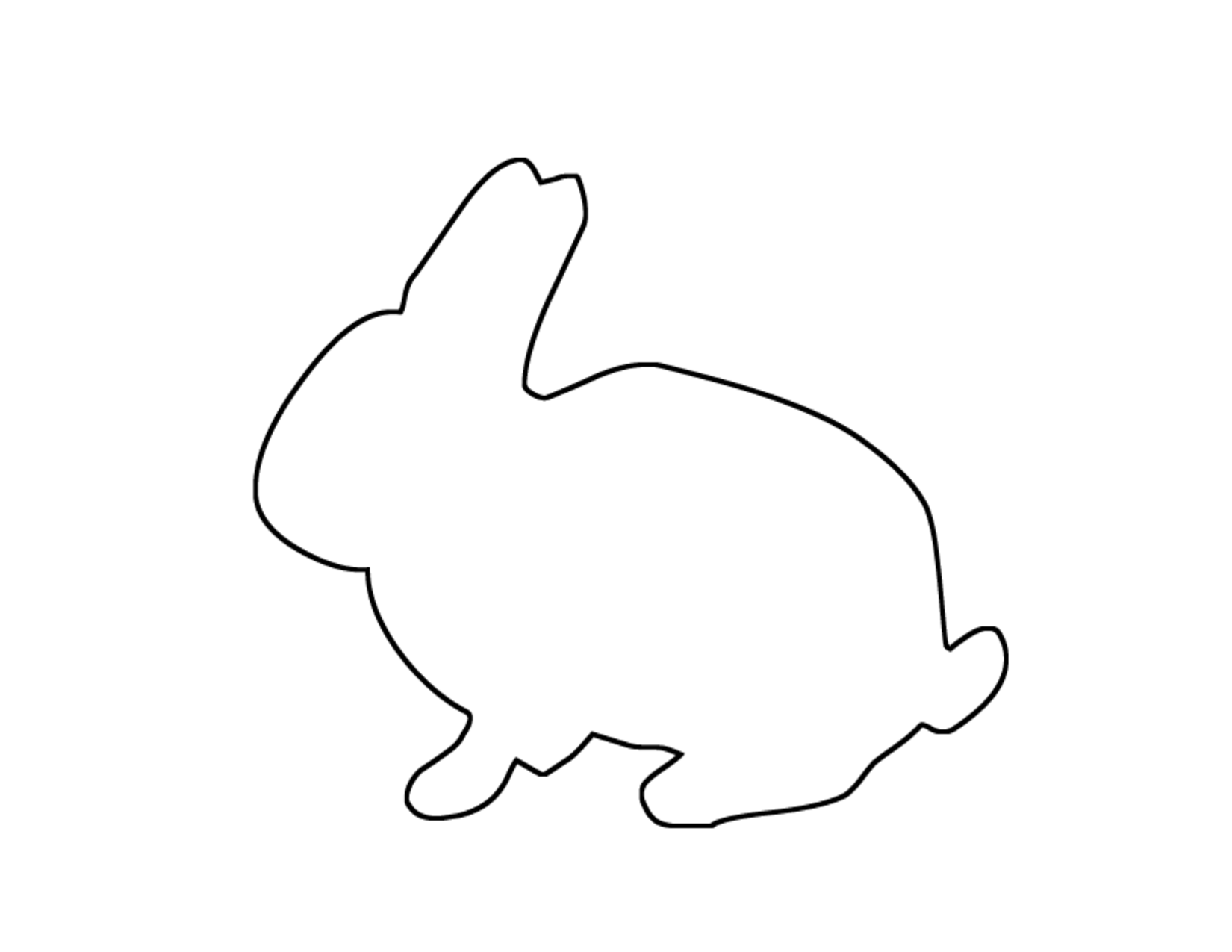 bunny outline Photos of bunny cut out outline printable png.