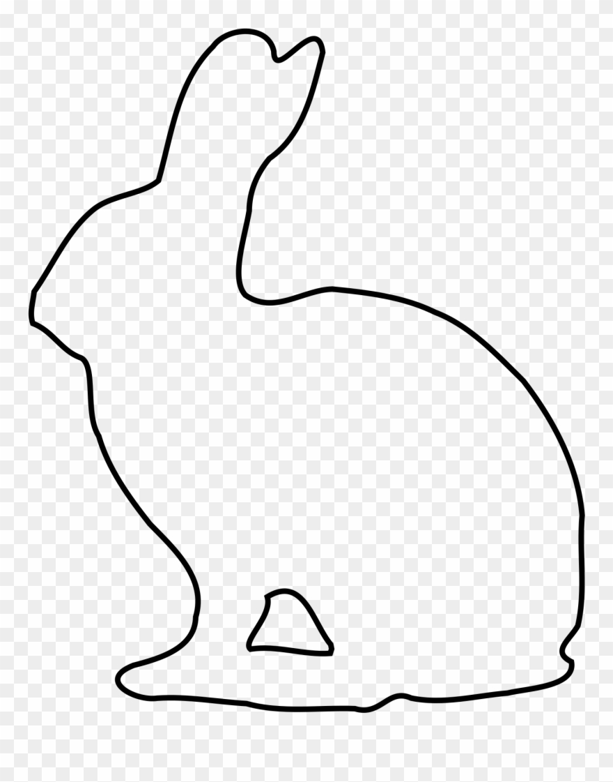 Download Bunny Rabbit Outline Of Leon Escapers Co.
