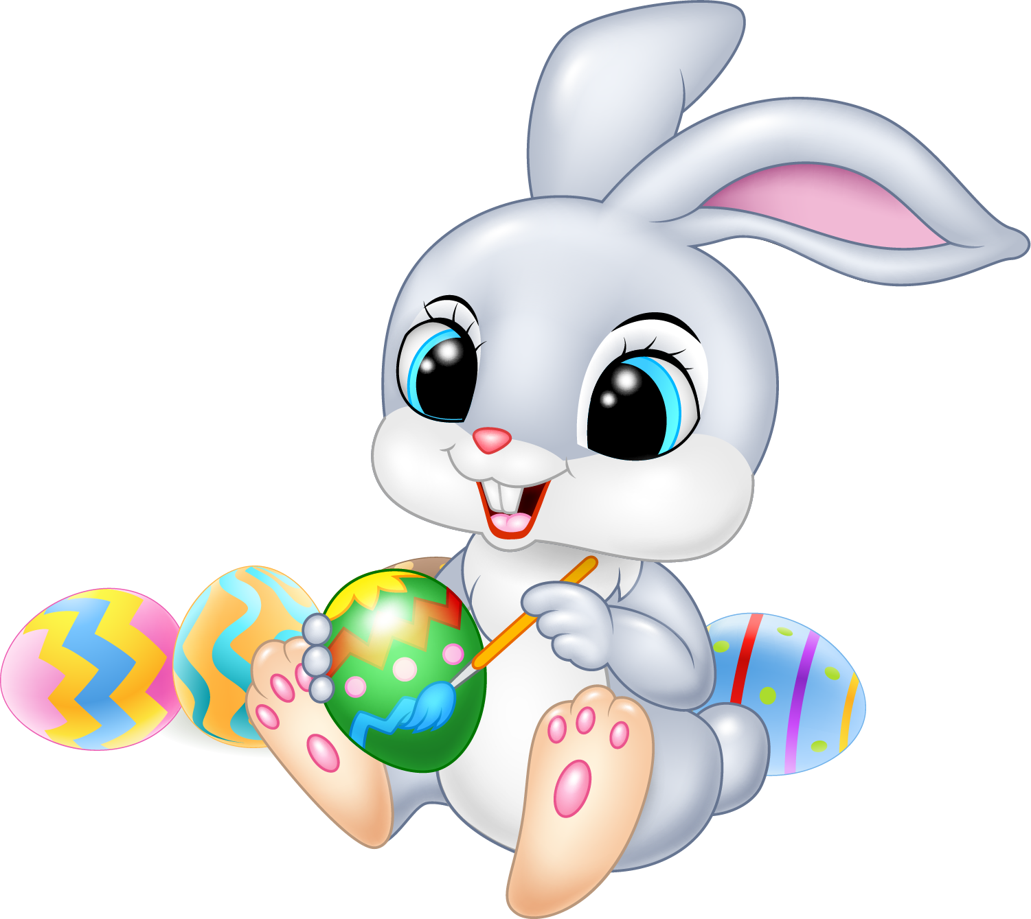 Easter Bunny Cartoon Illustration.