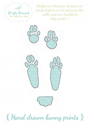 Rabbit Track Outline Clipart.