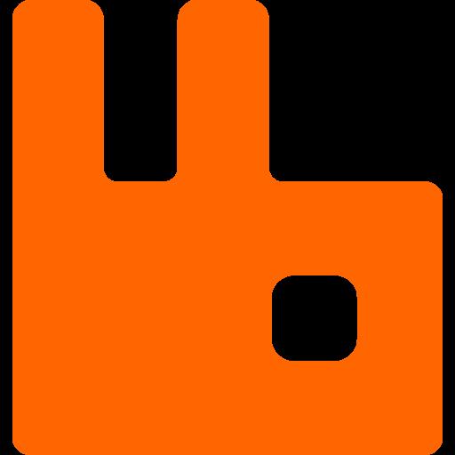 Rabbitmq Logo Icon of Flat style.