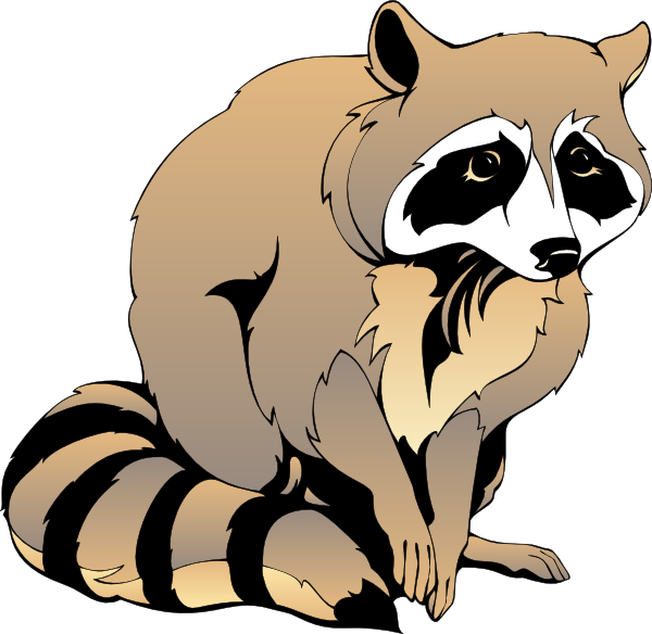 Cute Raccoon Clipart.