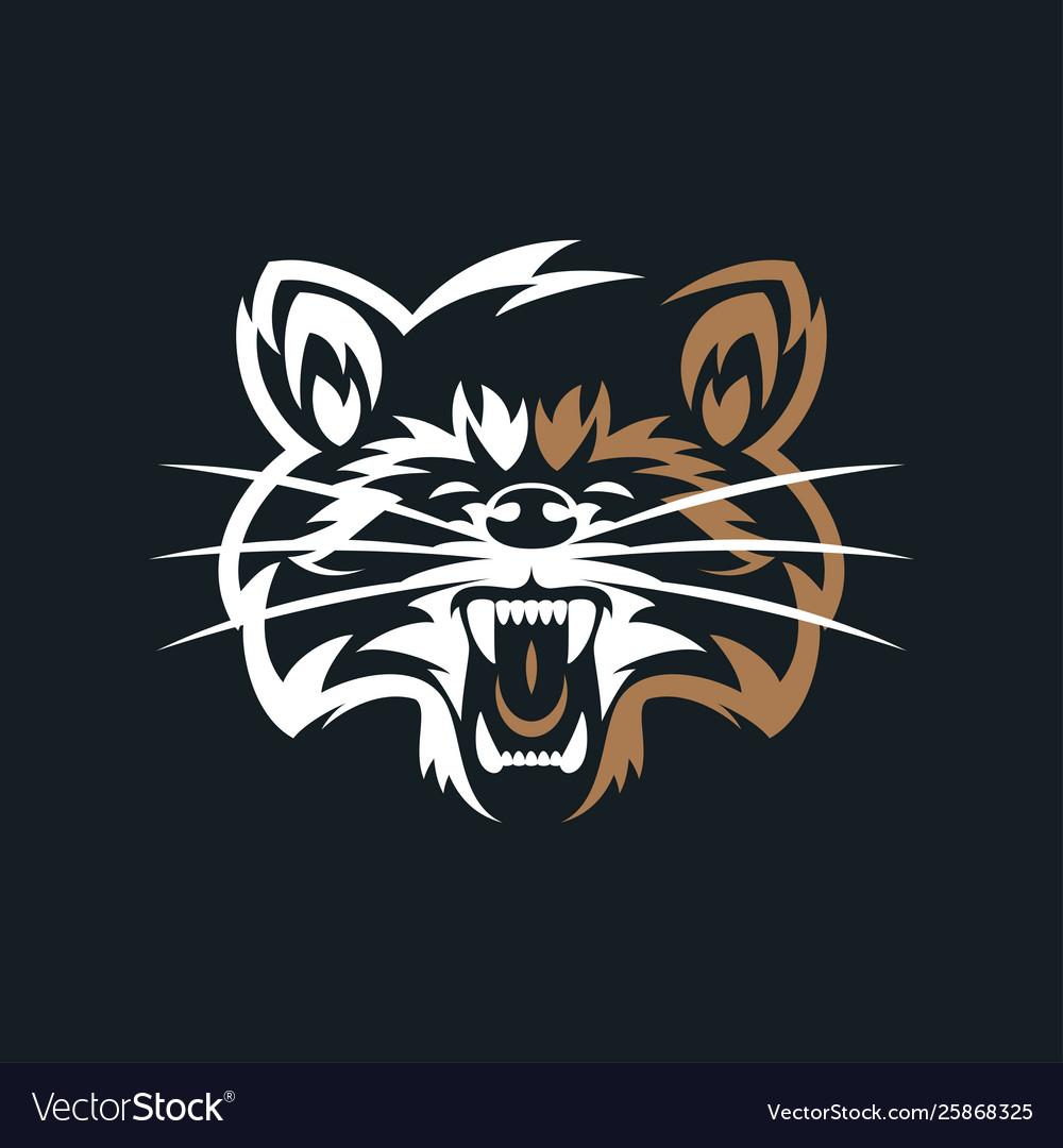 Raccoon vintage logo.
