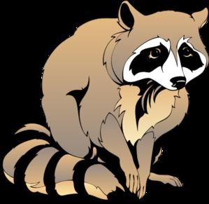 Raccoon Vector Clipart.