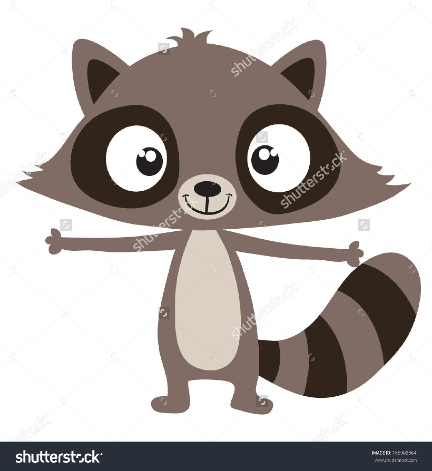 Raccoon Stock Vector 165908864.