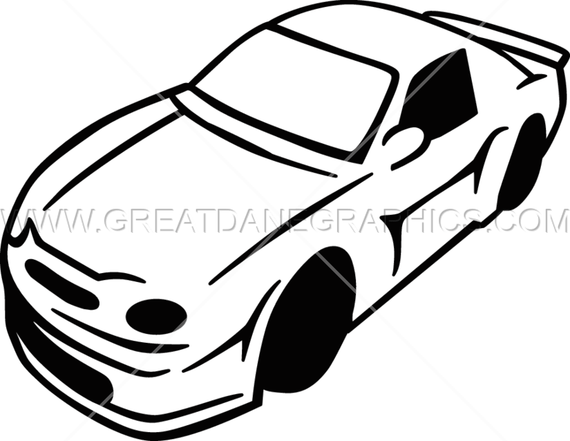 Race Car Clipart Black And White.