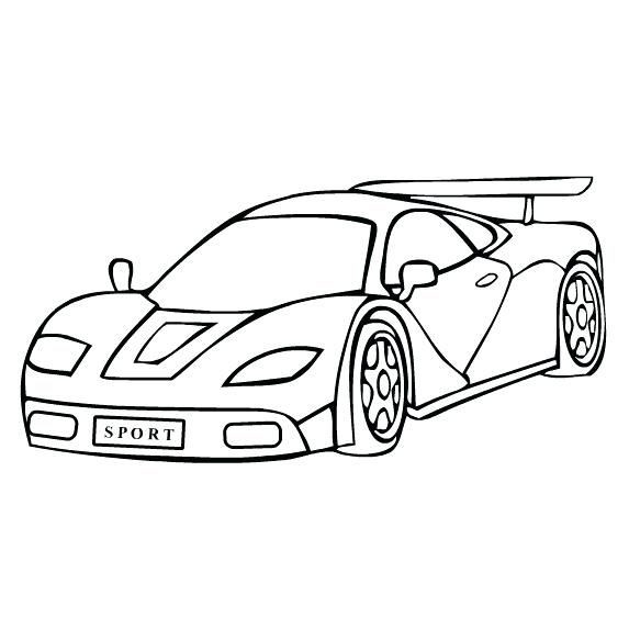 Sports car clipart black and white New Amazing Coloring.